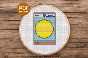 Washing Machine Cross Stitch Pattern