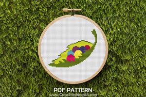 Pearls On Leaf Cross Stitch Design