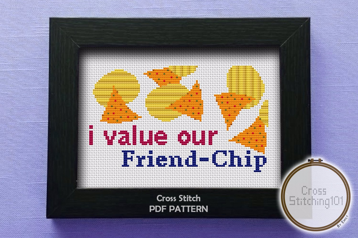 I Value Our Friend-Chip  Cross Stitch PDF