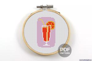 Orange Juice CrossStitch Design
