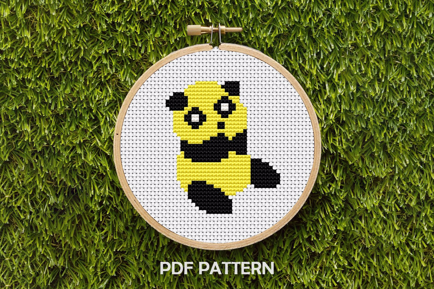 Panda Sitting Cross Stitch Pattern
