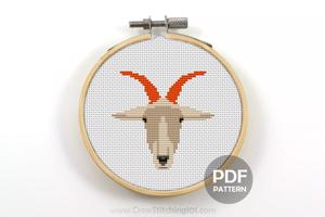 Goat Face Cross Stitch PDF