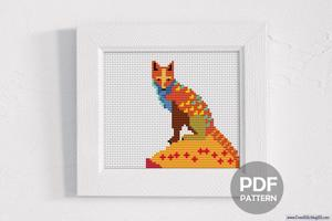 Wild Fox Cross Stitch Pattern
