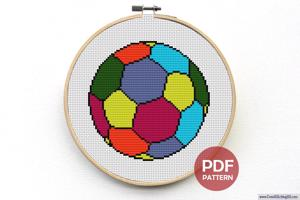 Foot Ball Cross Stitch Pattern