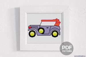 Vintage Car CrossStitch Design