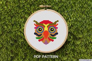 Owl Pattern Cross Stitch Design