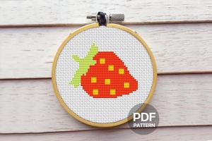 Red Strawberry Cross Stitch Chart