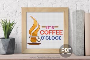 It's Cofee O'clock CrossStitch Design