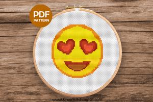 Smiling Face CrossStitch Design