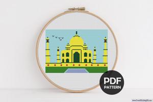 Taj Mahal Cross Stitch Design