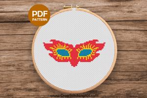 Mask Cross Stitch Design