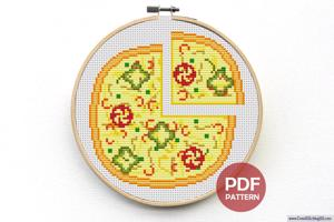 Pizza Cross Stitch Design
