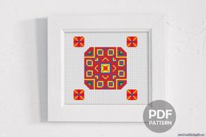 Square Pattern Cross Stitch Design