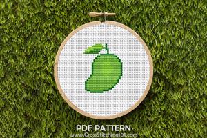 Fresh Mango Cross Stitch Design