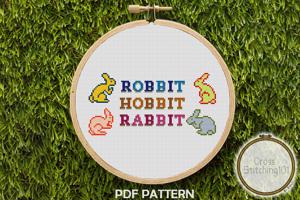 Robbit Hobbit Rabbit Cross Stitch PDF