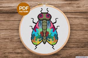 Bee Cross Stitch Design