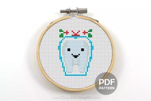Cartoon Tooth Cross Stitch PDF