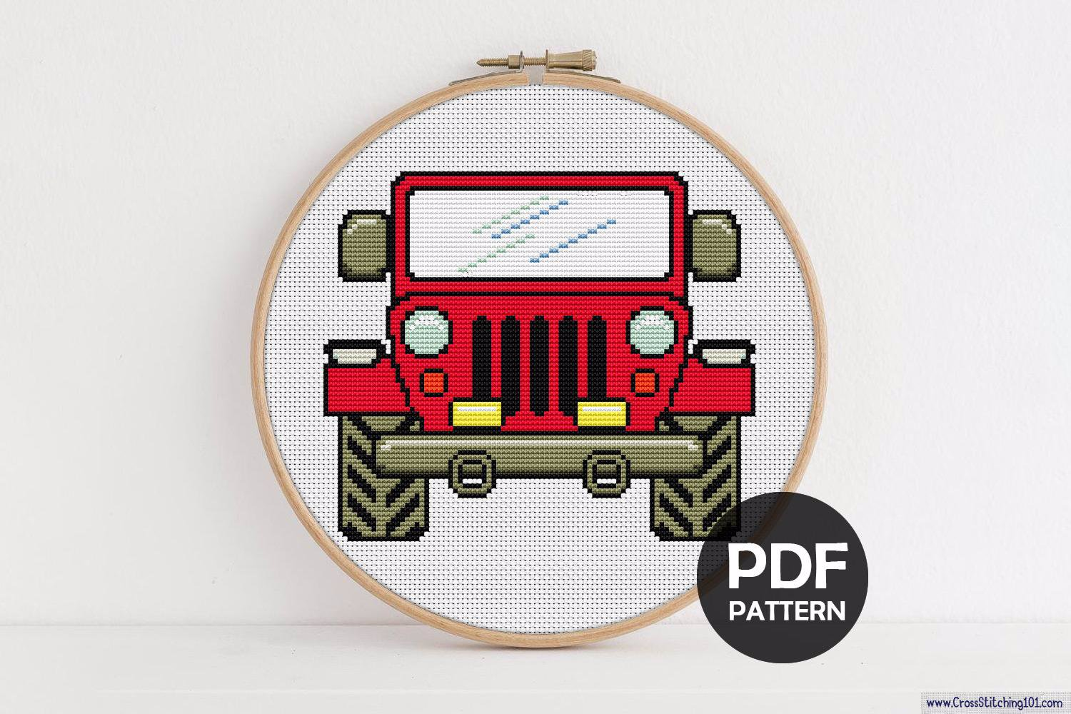 Jeep CrossStitch Design