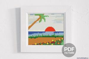Sunset Scene Cross Stitch PDF