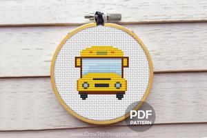 School Bus CrossStitch Pattern