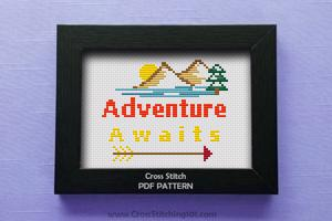 Adventure Awaits CrossStitch Pattern