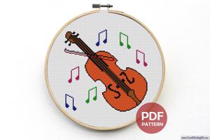 Violin Cross Stitch Pattern
