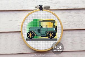 Antique Car CrossStitch Design