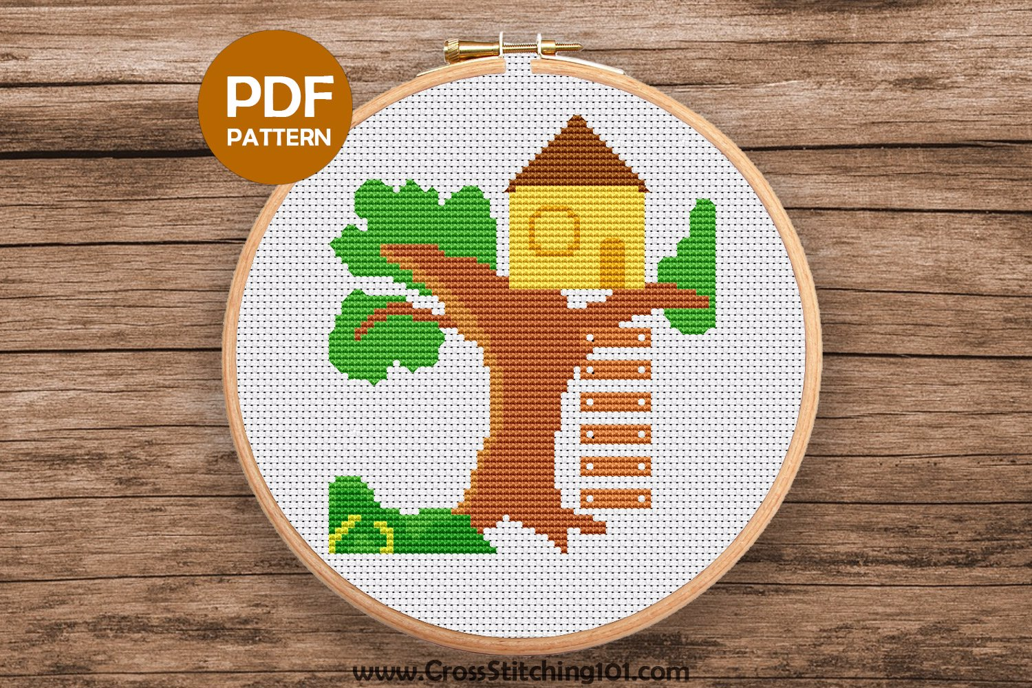 Tree House Cross Stitch PDF