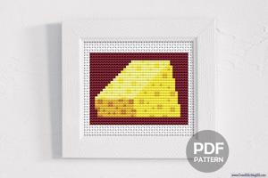 Cheese Cross Stitch Chart
