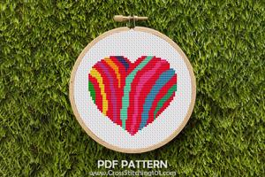 Heart Of Zebra  Cross Stitch Pattern