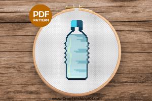 Cold Water Bottle Cross Stitch Design