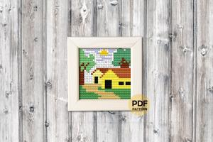 Village Houses Cross Stitch PDF