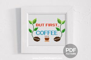But First, Coffee - Two Beans CrossStitch Chart