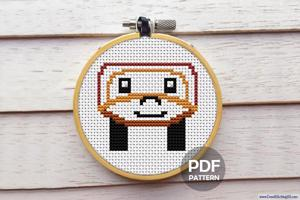 Cartoon Car Cross Stitch Design