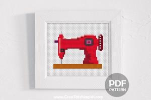 Sewing Machine Cross Stitch Chart
