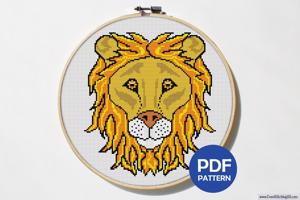 Lion Face CrossStitch Pattern