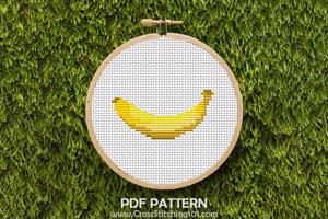 Banana Cross Stitch PDF
