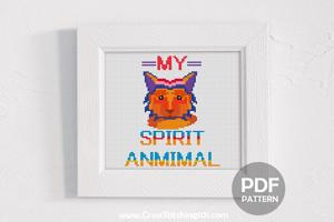 My Spirit Animal Cross Stitch PDF