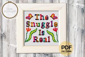 The Snuggle Is Real Cross Stitch PDF