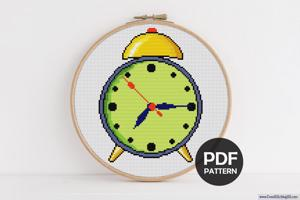 Alarm Clock Cross Stitch Design