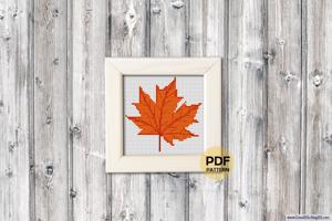 Maple Leaf Cross Stitch Pattern