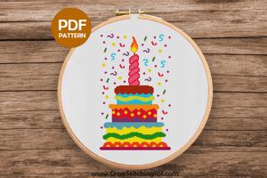Cake Cross Stitch Pattern