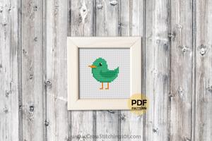 Cartoon Birdie Cross Stitch Pattern