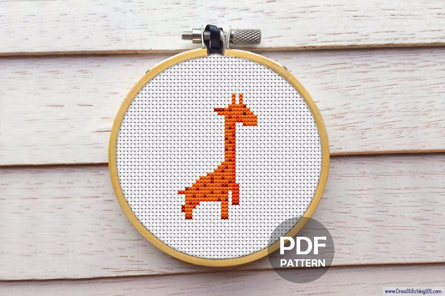 Giraffe Cross Stitch PDF