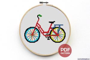 Cycle Cross Stitch Pattern