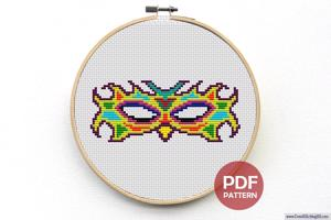 Mask Cross Stitch PDF