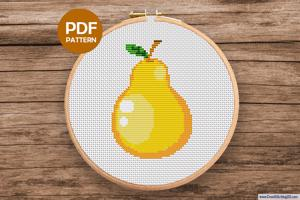 Pear Cross Stitch Pattern