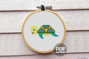 Baby Turtle Cross Stitch PDF