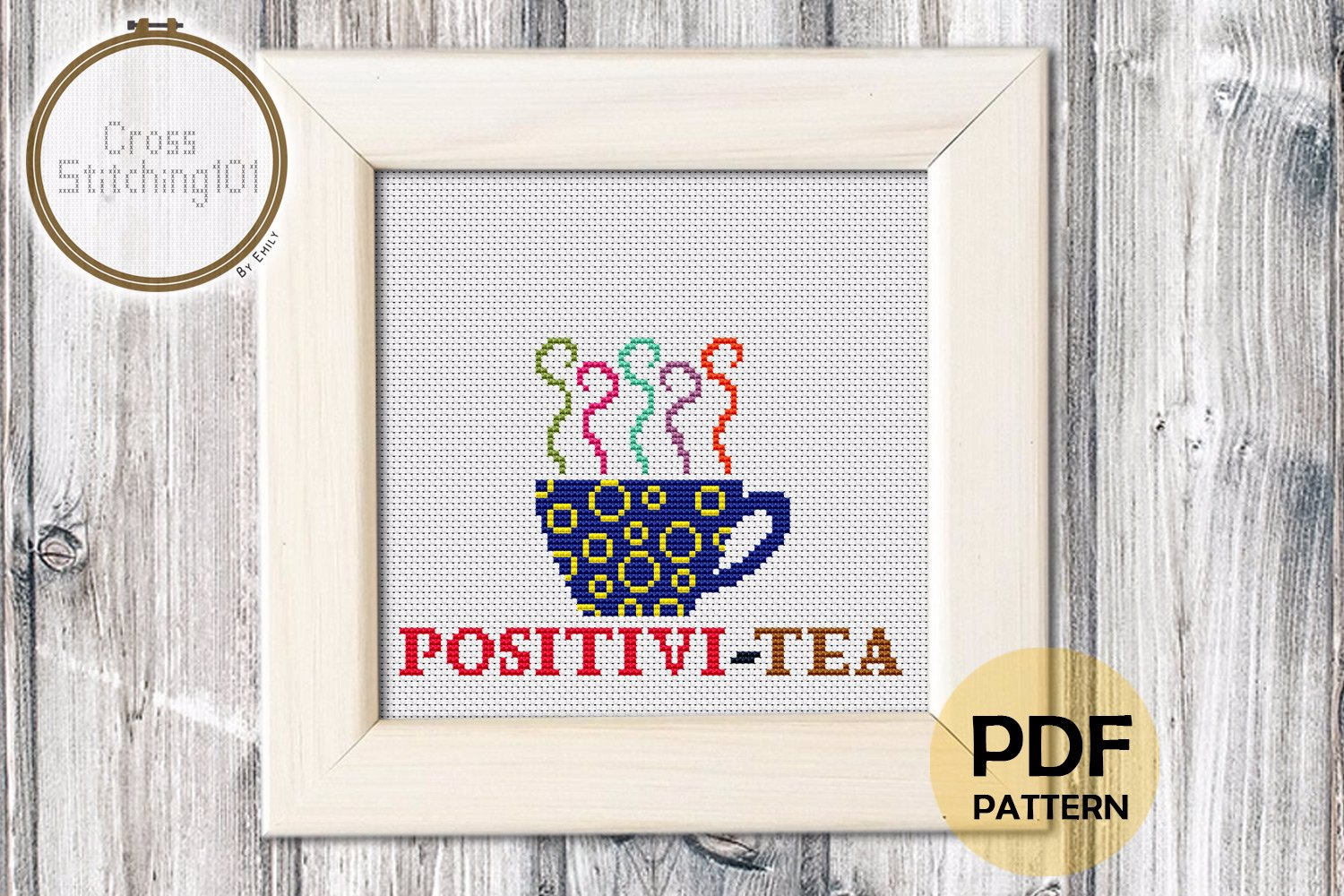Positivi-Tea Cross Stitch Chart
