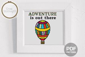 Adventure Is Out There Cross Stitch Pattern